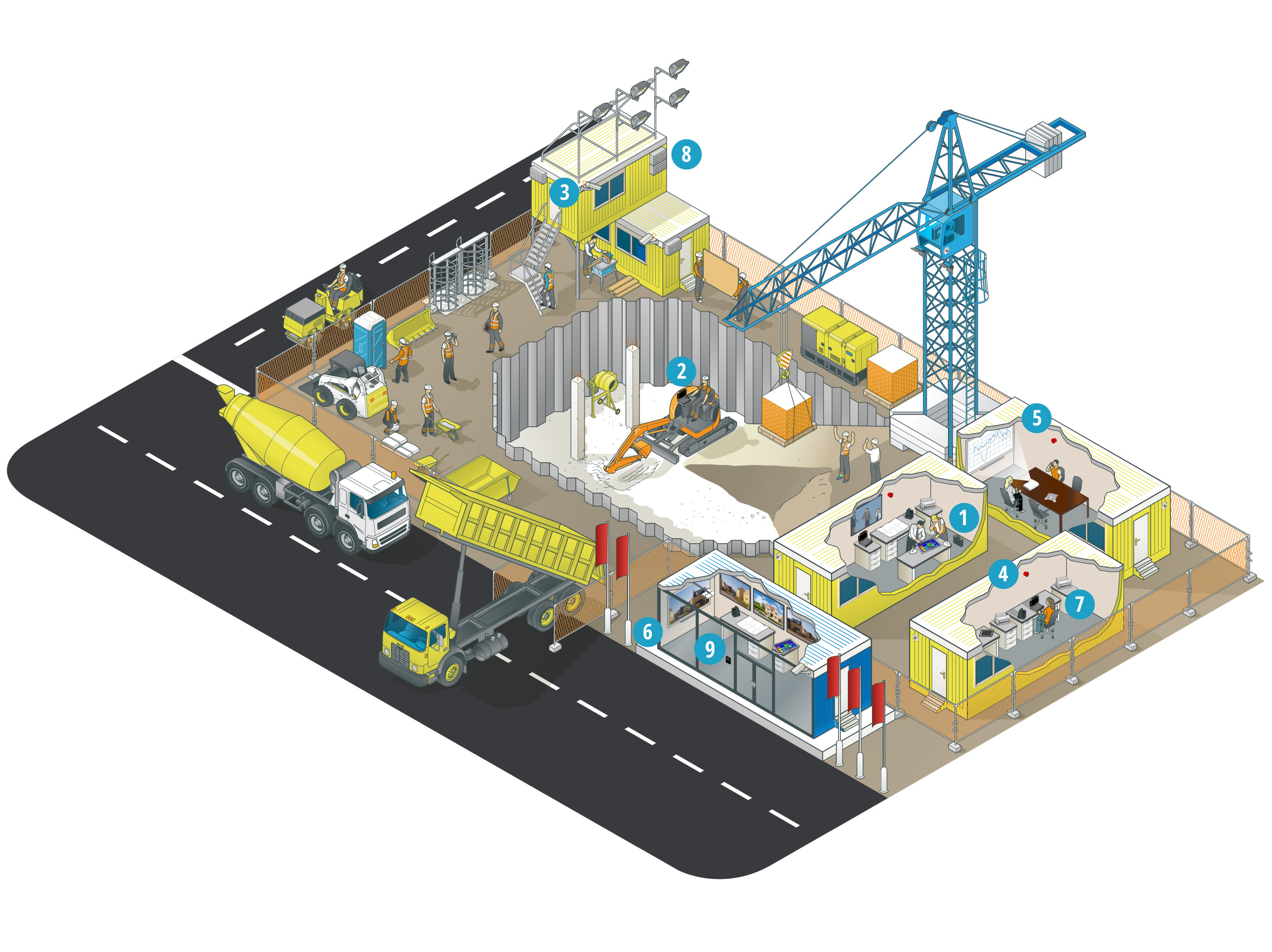 How do Panasonic solutions support the construction and engineering sector?